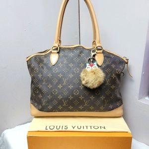 Auth louis Vuitton Monogram Canvas Lockit Bag